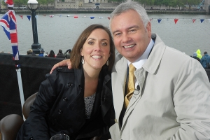 Me and Eamonn Holmes covering the Thames Diamond Jubilee Pageant for Sky News, June 2012